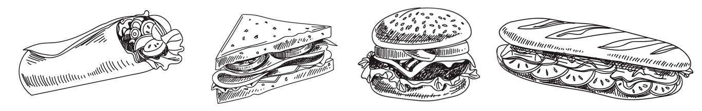 Burger and Sandwich Illustrations
